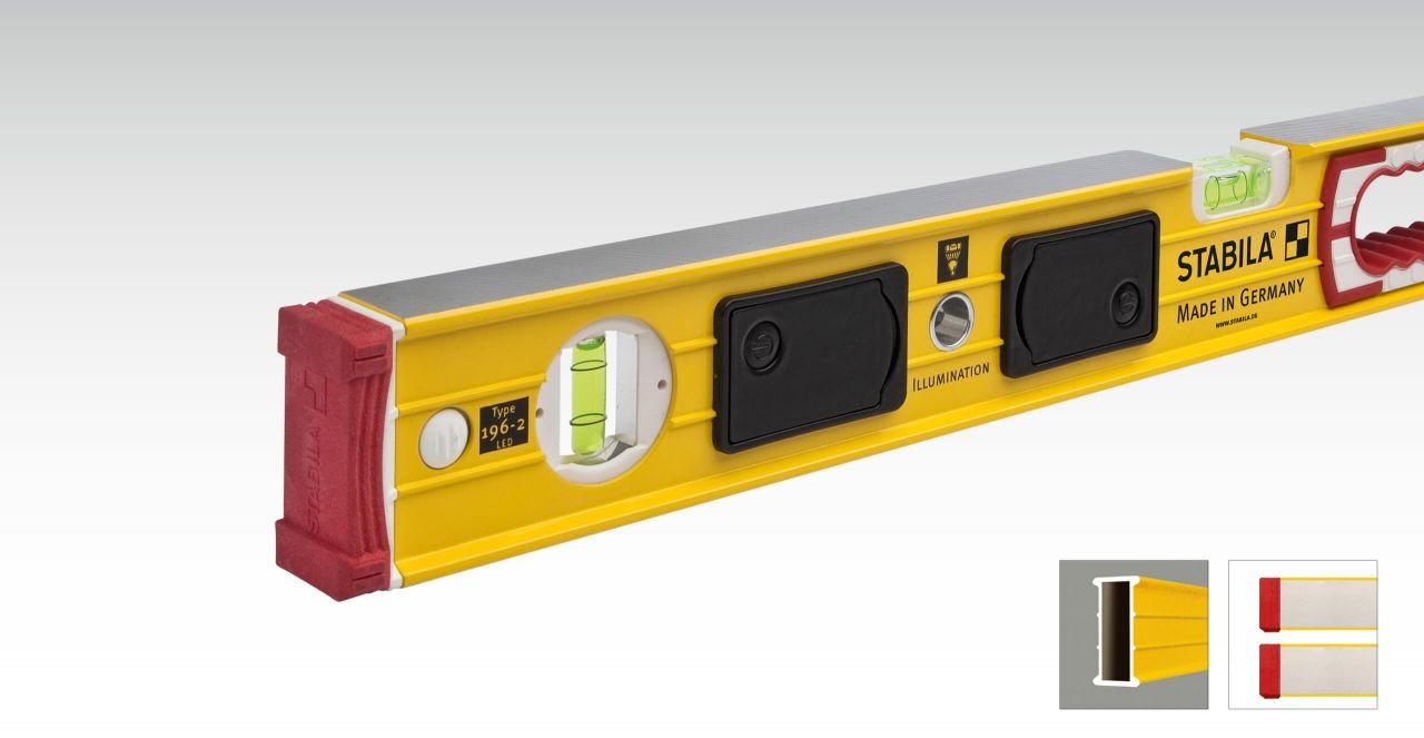 Stabila Level Set Kit Type 196-2 LED 48'' and 24'' Levels with Lighted Vials by Stabila (Image #8)