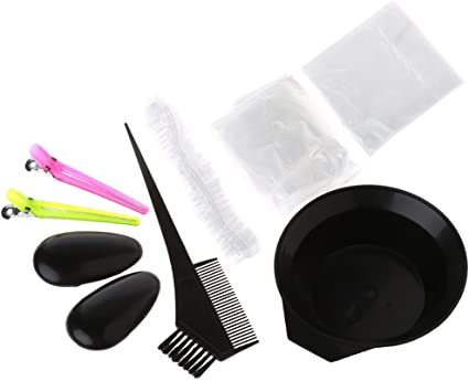 Lunji Kit de tinte profesional para teñir el cabello: Amazon ...