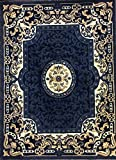 Carpet King Traditional Persian Area Rug Navy Blue Design 101 (8 Feet X 10 Feet 6 Inch) Review