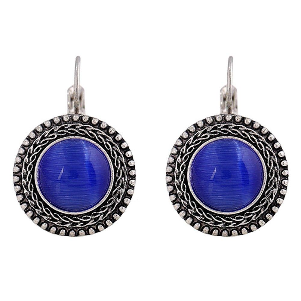 Fervent Loveファッションジュエリーイヤリング  Blue Opal B0757KJQVY