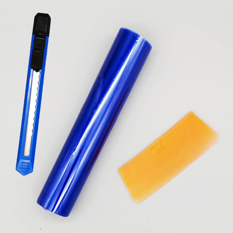 APA Blendschutzstreifen Frontscheibe Sonnenschutz T/önungs Streifen Folie Blau Keil