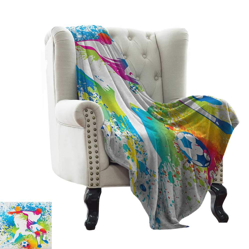 color07 35 x60  Inch Wearable Blanket Youth,Dancing Teenagers People Dancing and Jumping Vibrant Silhouettes Floral Border Detail, Multicolor Luxury Flannel Throw Blankets for Bed(Lightweight,Super Soft) 50 x60