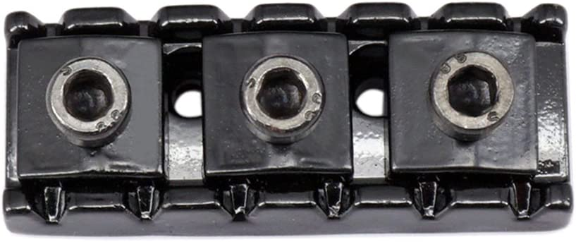 43mm Double Tremolo Bridge System String Nut for Electric Guitar Replacement Parts Black as described