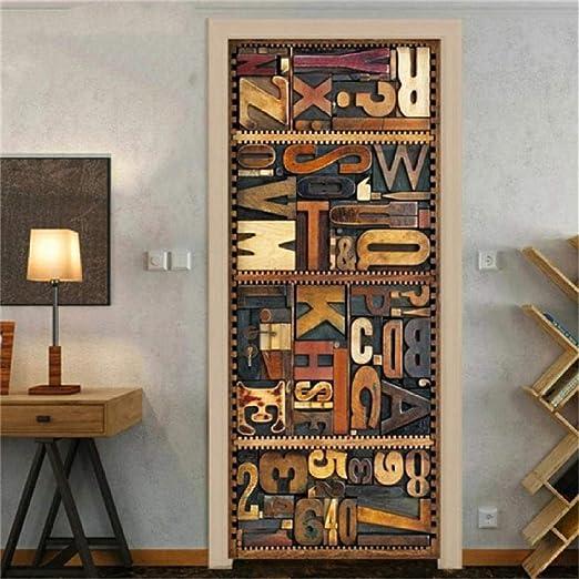 Ailailsid Cartel para Puertas 3D En Papel Pintado ...