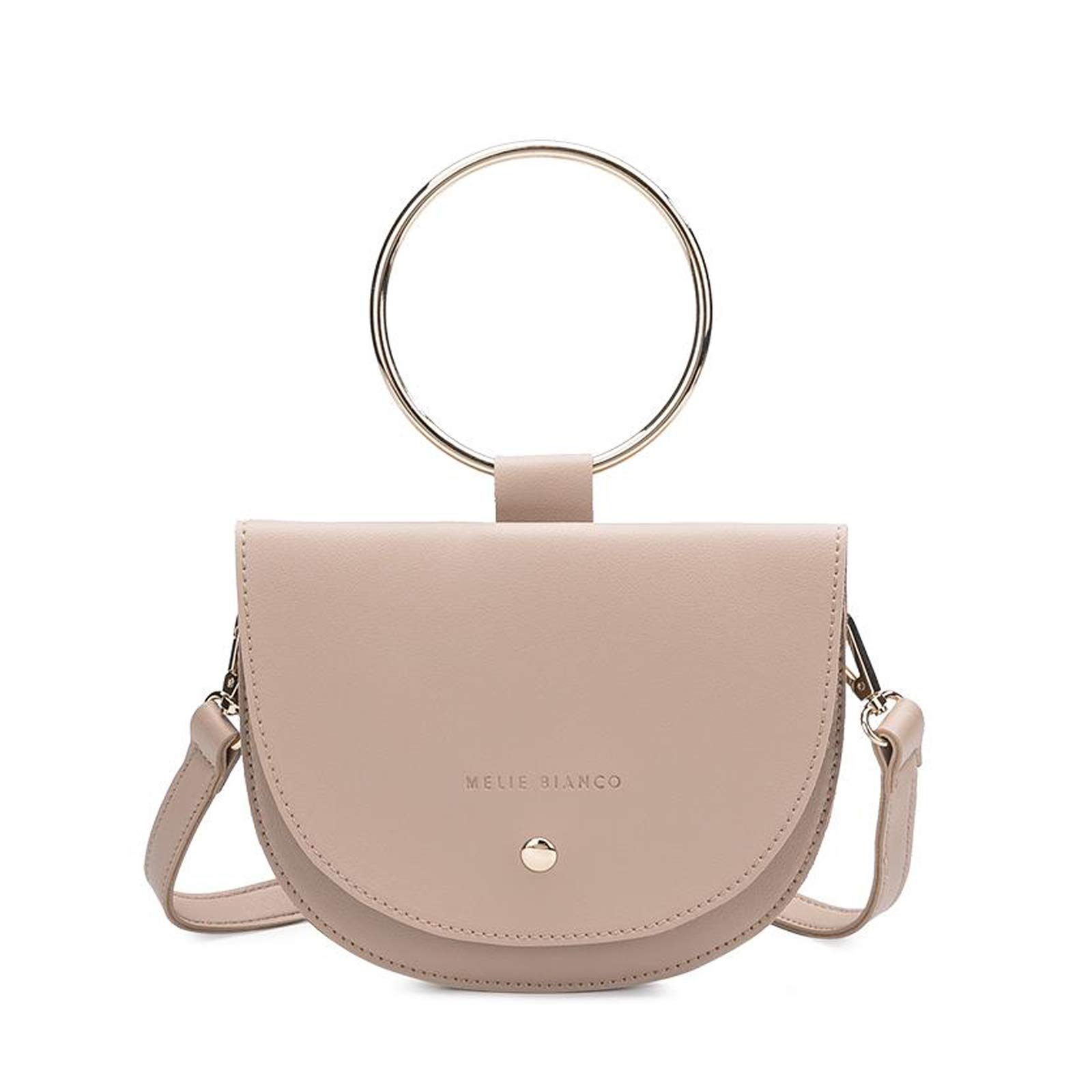 5f4ec4e4995e7f Melie Bianco Felix Ring Vegan Leather Crossbody Bracelet Bag, Nude ...