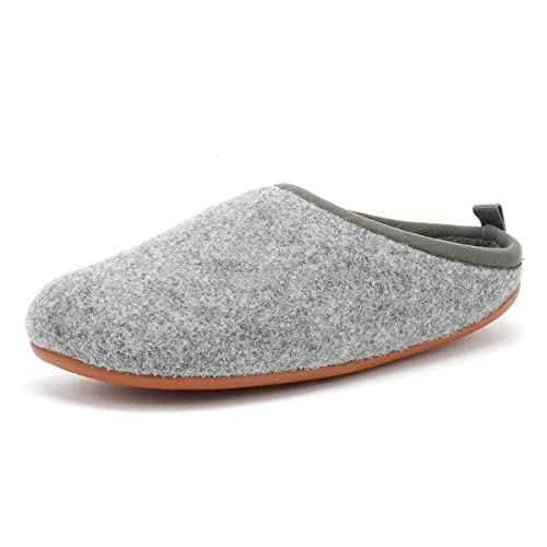 f45bfe45b8eb Camper Wabi Mens Wool Mule Slippers Pastel Grey 46  Amazon.co.uk ...