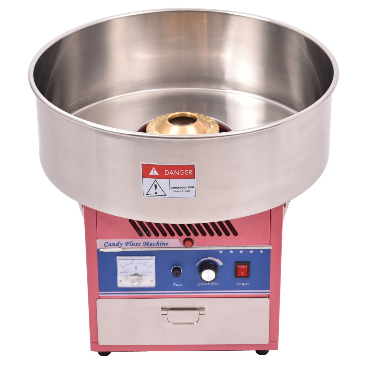 Giantex Electric Cotton Candy Machine Floss Maker Commercial Carnival Party Pink by Giantex (Image #2)