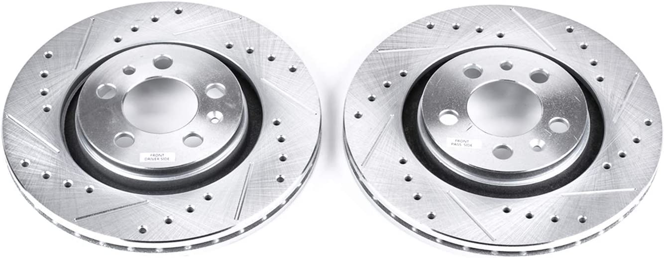 Power Stop EBR615XPR Front Evolution Drilled /& Slotted Rotor Pair