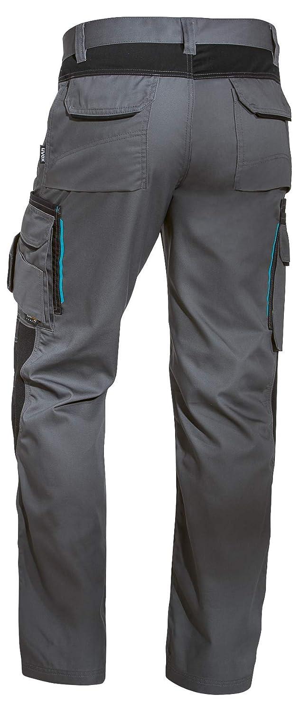 Blu Nero Verde Uvex Tune-up 8909 Pantaloni da Lavoro con Velluto Resistente alle Abrasioni Molte Tasche Laterali Tasche Cordura Cuscinetti alle Ginocchia Grigio