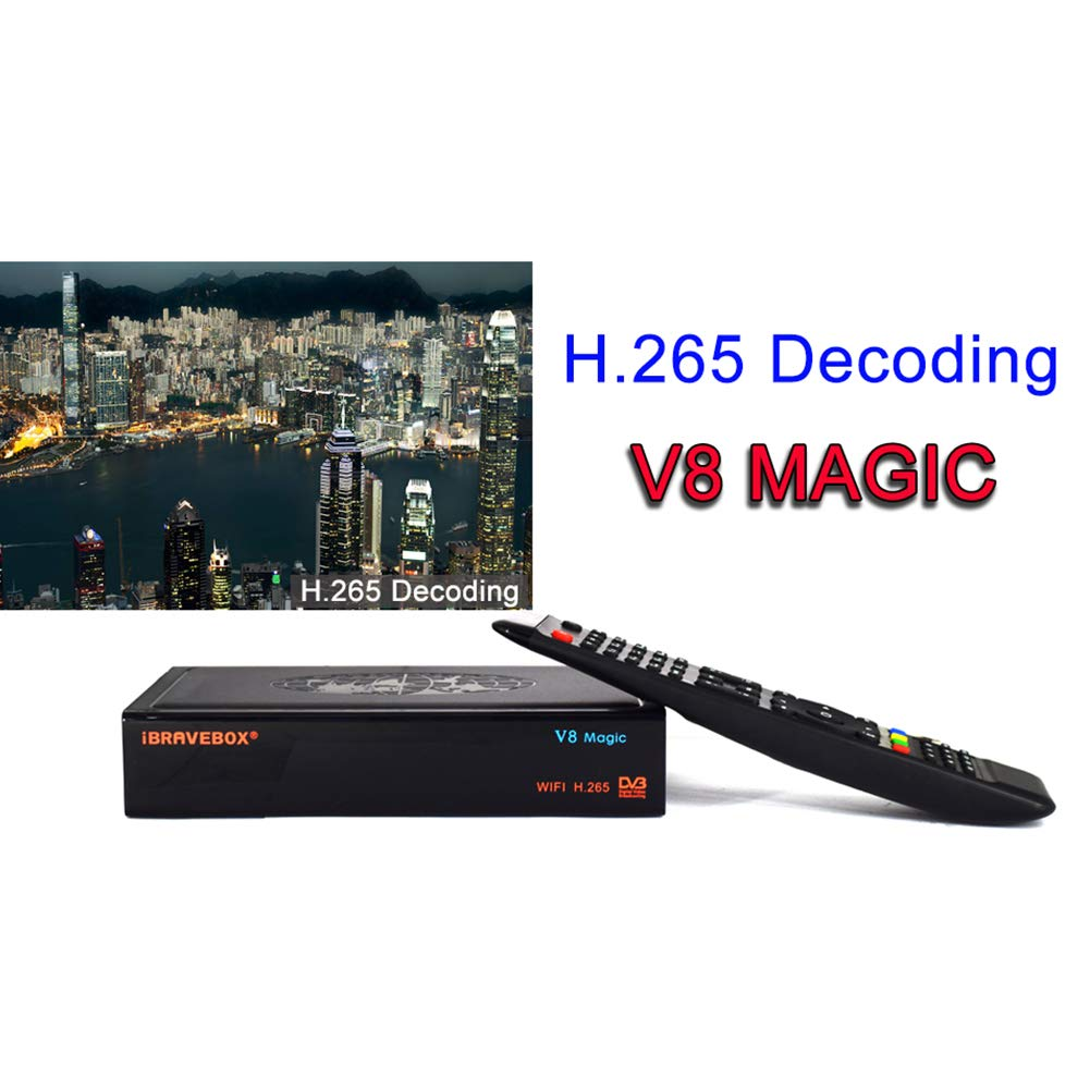 PinShang Satellite TV Receiver iBRAVEBOX V8 Magic DVB-S/S2 & IPTV Digital Free Satellite Web TV Receiver US Plug