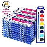 Bulk Water Color Paints - Jumbo Set of 38 Watercolors - Jumbo Pack - Oval