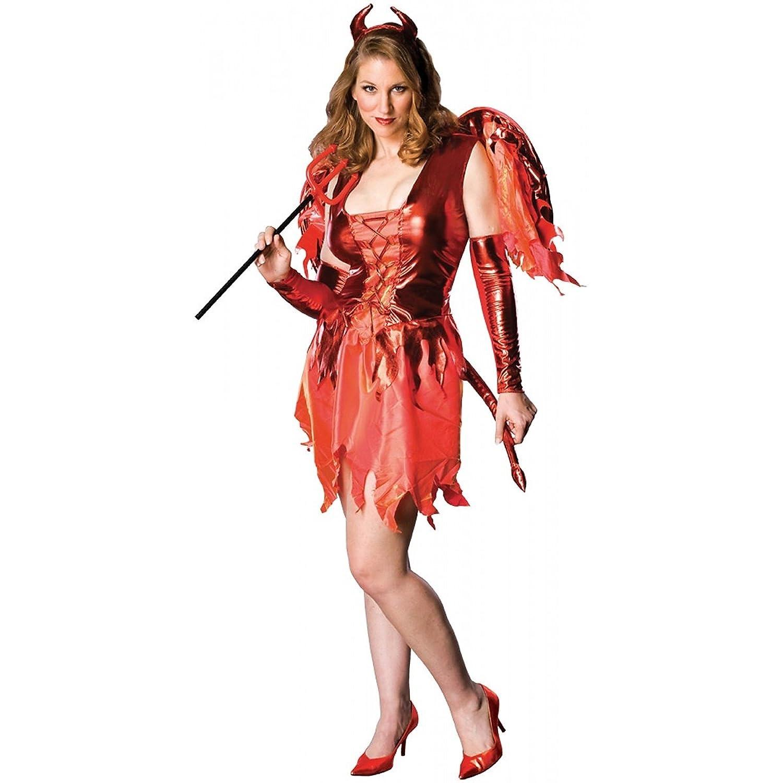 amazoncom plus size devil on fire costume plus size clothing
