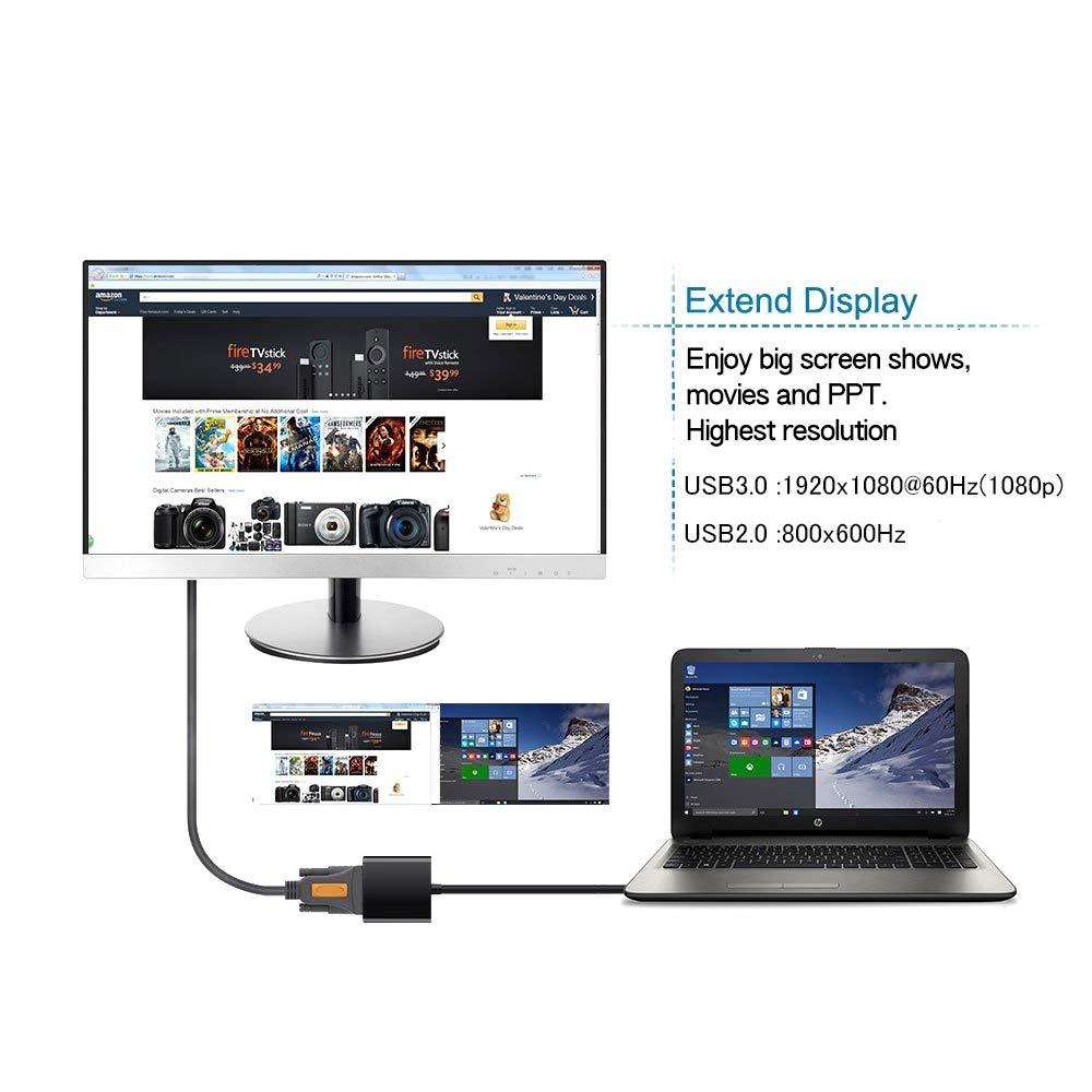 Adaptador USB 3.0 a VGA, tarjeta de video externa ...