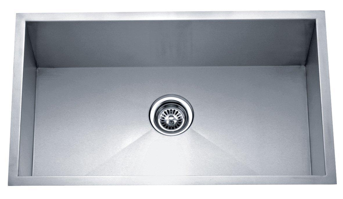 Dakota Signature Single Bowl Zero Radius 16g Stainless Steel Sink ...