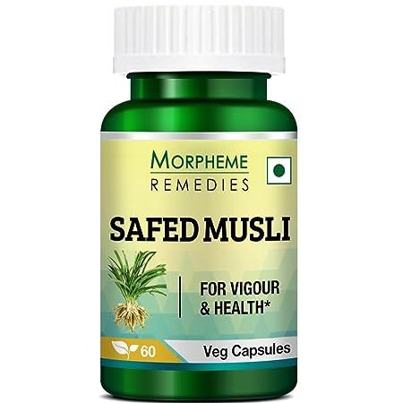 Morpheme Remedies Safed Musli 500 mg - 60 Veg Capsules
