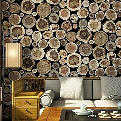 Eurotex Wooden Blocks Design Washable Paper Wallpaper 1 Roll 57 Sq