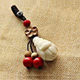 Wall of Dragon Child Ivory car Key Pendant Keychain Magnolia Flower Security