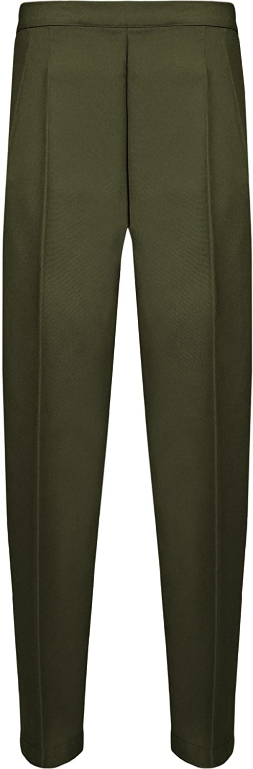 WearAll Womens Elasticated Pocket Trousers Pants 8142