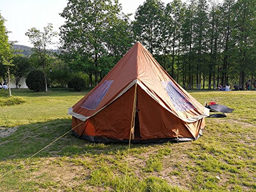 DANCHEL 6-12-Person Orange Bell Tent Size 13ft & DANCHEL 6-12-Person Orange Bell Tent Size 13ft - Camping Companion