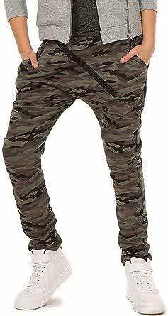 Dykmod Pantalones de camuflaje militar para niño 116-158