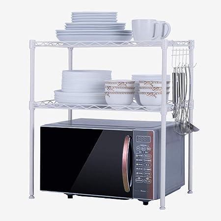 Estante del horno de microondas de sobremesa de dos capas 54 ...