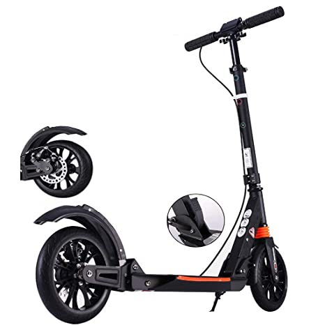 ZAQI Patinetes Kick Scooter Negro/Blanco, Scooters Plegables ...