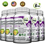 GreeNatr Garcinia Cambogia Extract 60 HCA / 1000 mg - Natural Appetite Suppressant, Fat Burner and Weight Loss Supplement, 360 Veggie Capsules / Gluten Free (6 Pack)