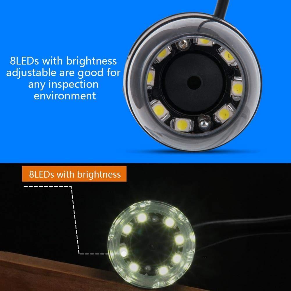 ingrandimento 1000X Zoom 8 LED Video Fotocamera endoscopio con Supporto Pbzydu Microscopio Digitale USB