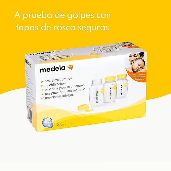 Botellas Biberón Medela para leche materna (3 unidades, 150 ml ...