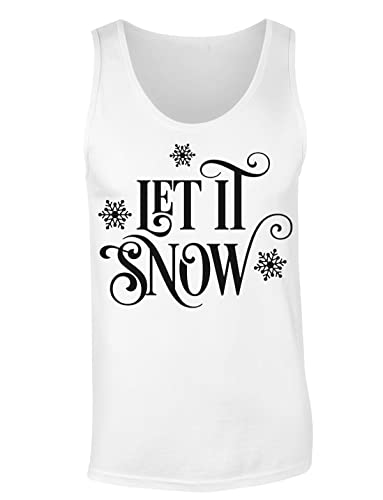 Let It Snow Snowflakes Design Camiseta sin mangas para mujer Shirt