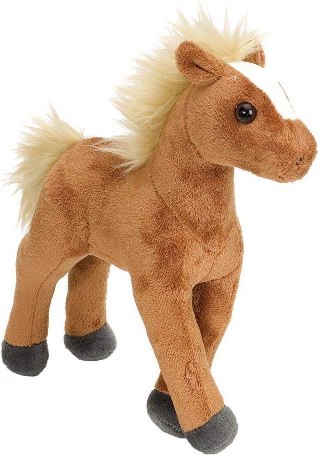 Wild Republic - Mini caballo de Peluche Cuddlekins, 20 cm, color marrón (13595)