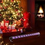 ENKEEO Black Lights 36 W 12 LED UV Bar Glow Parties Ultraviolet Blacklights, 360° Adjustable 396 nm Halloween, Christmas, Pub, Bar DJ Stage Lighting