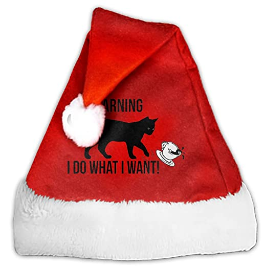 ce56c75d3a640 Image Unavailable. Image not available for. Color  Luxury Christmas Santa  Hat I Do What I Want Plush Adults  ...