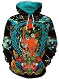 Thenice Women's Long Sleeve Hoodies Sweatshirts (M, Skull wedding)