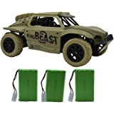 Blomiky D181 High Speed Race Green Toy RC Trucks 1/18 Scale 4WD Remote Control Car Vehicle 15.5MPH+ Racing Monster Electric Buggy D181 Army Green