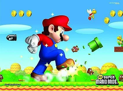Super Mario - Fondo de cumpleaños para niños de 7 x 1,5 m ...