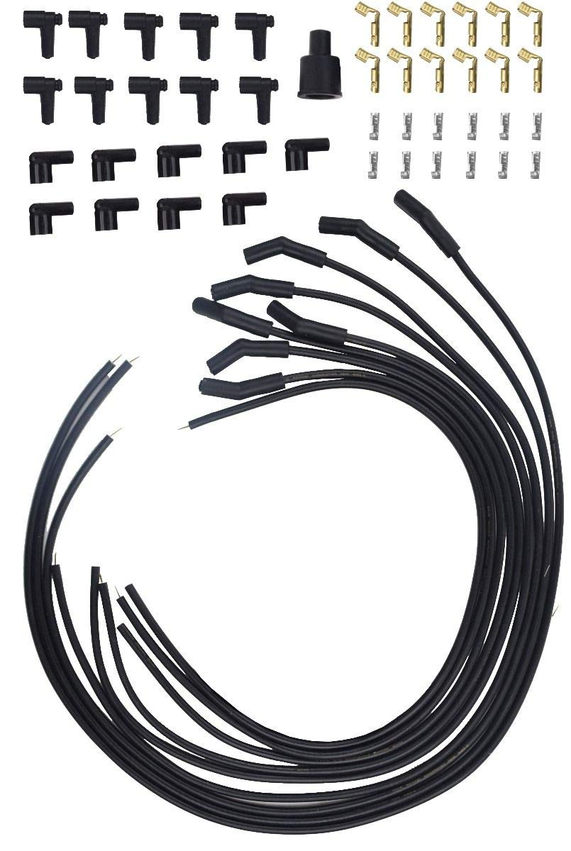 Racerdirect Universal HIGH Energy Spiral CORE Spark Plug Wires Plug RDN 135 DEG 8.5 MM