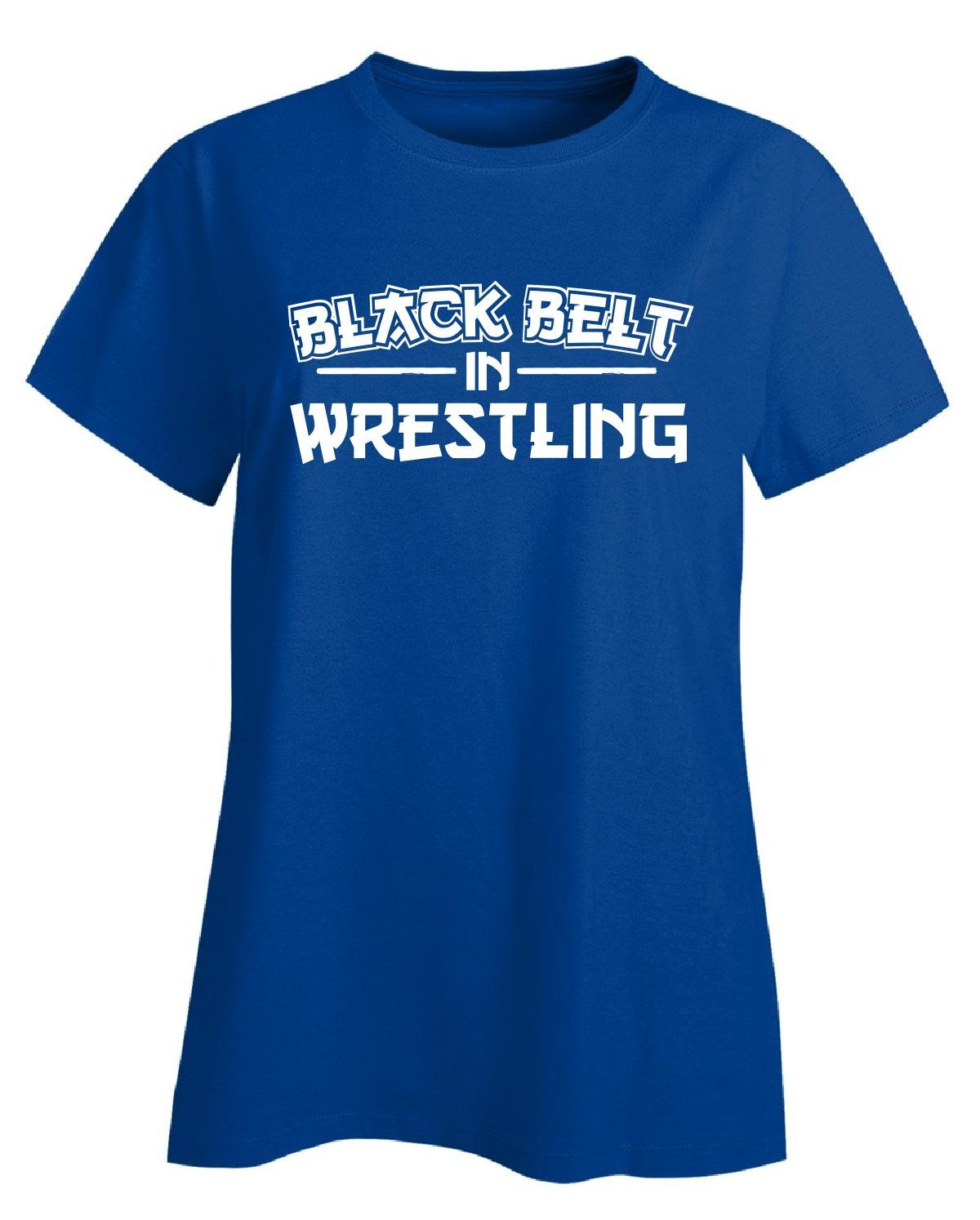 Black Belt In Wrestling Gift - Ladies T-shirt Ladies 3xl Royal by We Add Up