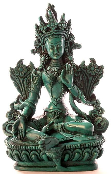 67aba8f130 BUDDHAFIGUREN/Billy Held Diseño de Buda de Figuras de - el Verde de Tara 15  cm de ...