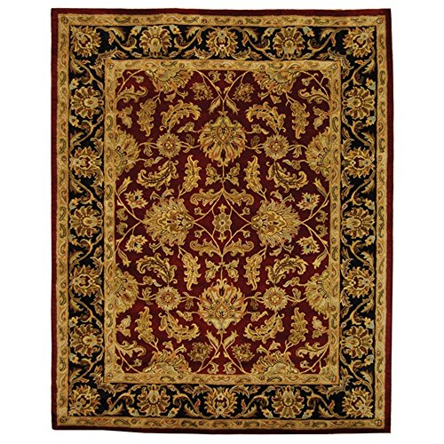 Safavieh Heritage Collection HG628C Handcrafted Traditional Oriental Red and Black Wool Area Rug (6' x 9')