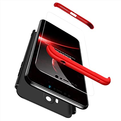 GoodcAcy Funda Xiaomi Redmi Note 5 Pro,Carcasa Móvil de Protección de 360°+ Cristal Templado HD Protector de Pantalla 3 en 1 Desmontable con Caso Case ...