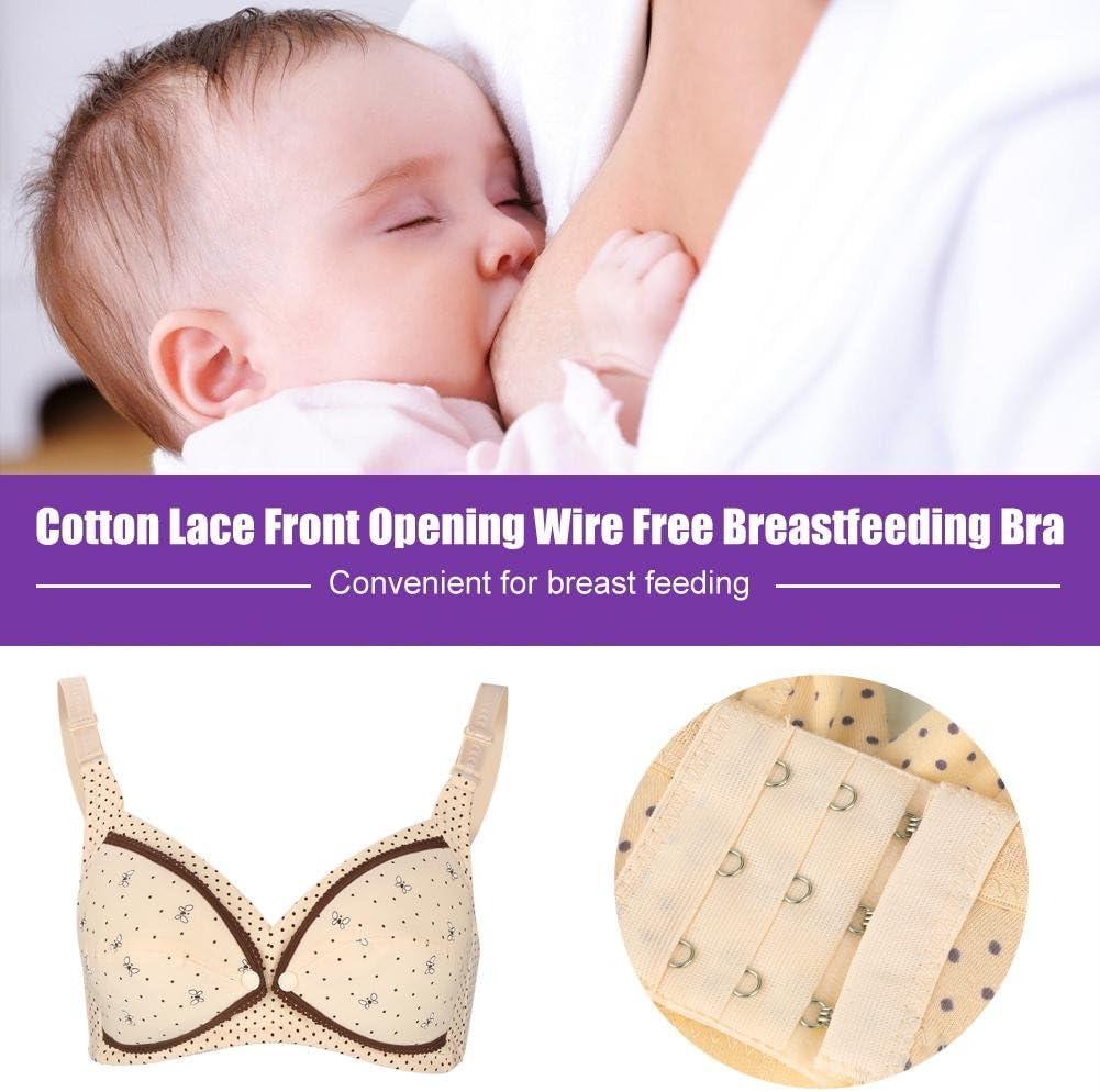 40//90 Pink Zerodis Cotton Maternity Nursing Bra Front Open Breastfeeding Bra With Bra Extender For Pregnant Women Clothing