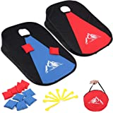 JUOIFIP Collapsible Portable Cornhole Set Cornhole Game Boards with 10 Bean Bags for Kids Adults, Cornhole Set with Storage B