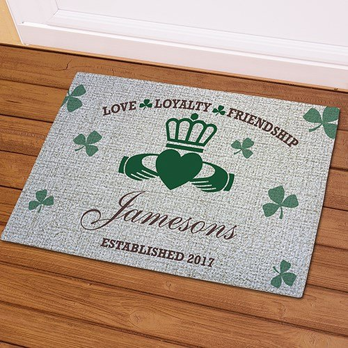 Personalized Irish Family Doormat, 18