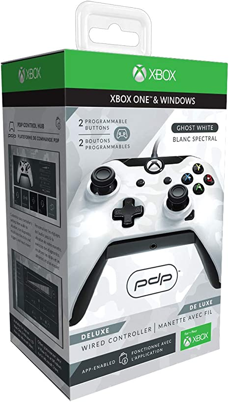 PDP - Mando Deluxe con Cable, Camo Blanco (Xbox One): Amazon.es ...