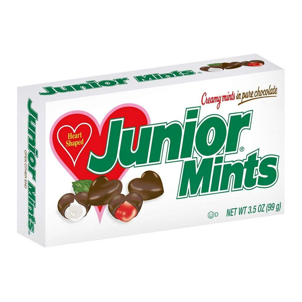 Junior Mints Valentine Heart Shaped Candy 3.5-Ounce Gift Box