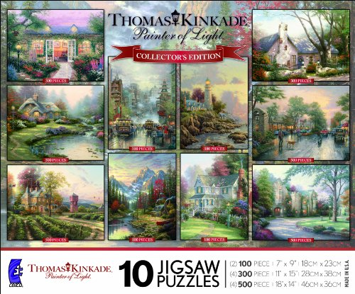 Ceaco Thomas Kinkade-10 In 1 Multi-Pack
