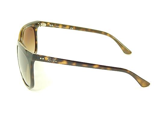 faf3d34b8 Amazon.com: New Ray Ban Cats 1000 RB4126 710/51 Tortoise/Light Brown  Gradient 57mm Sunglasses: Clothing