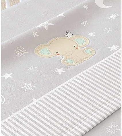 Juego de sábanas de sedalina bordada para cuna - 3 piezas - Mod. MIMU (