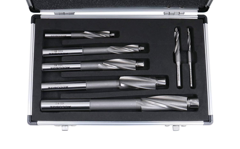 #509S-007M 7 Pcs Premium Metric HSS Solid Capscrew Counterbore Set 3 Flute